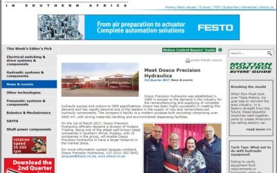 DOSCO Rejoins the Motion Control Magazine network