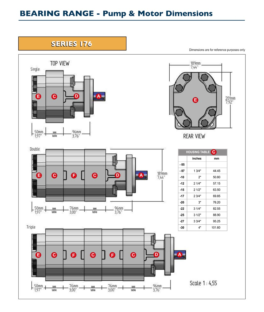 GPM Bearing Pump & Motor Dimensions-4