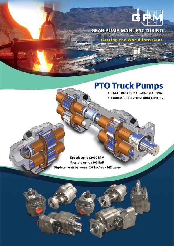GPM PTO Gear & Piston Pumps Brochure