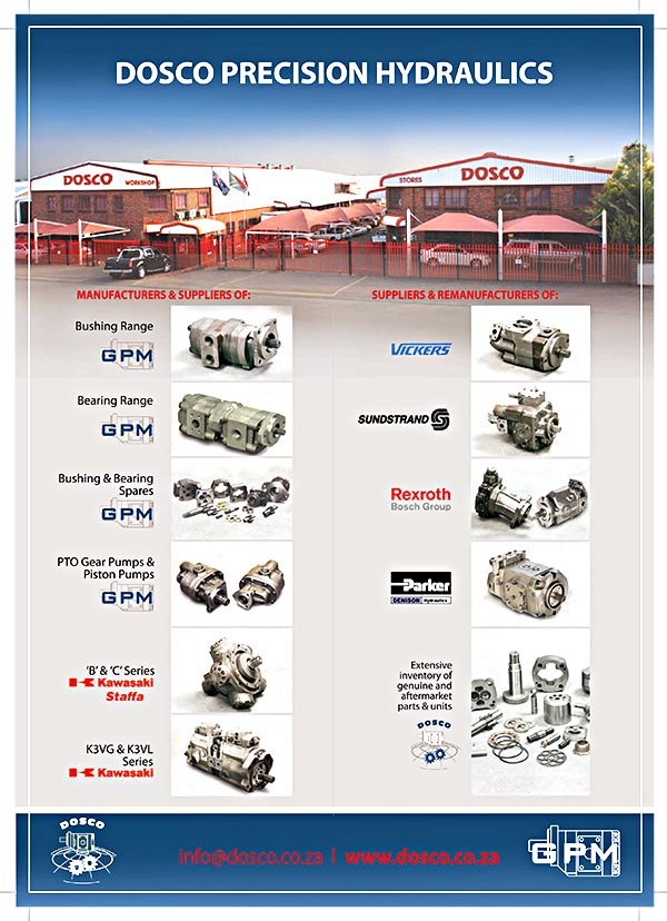 DOSCO Precision Hydraulics 2-page Brochure cover